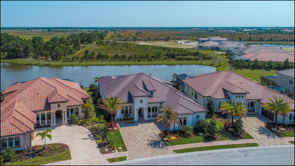 Country Club East Homes Drone
