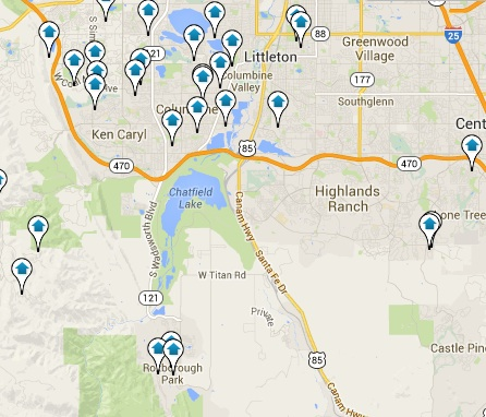 Littleton Homes for Sale Map Search Results