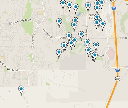 Lone Tree Homes for Sale Map Search Results