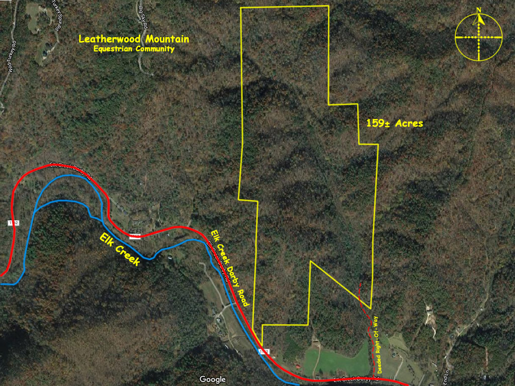 Secluded tract of land off Elk Creek 159 acres