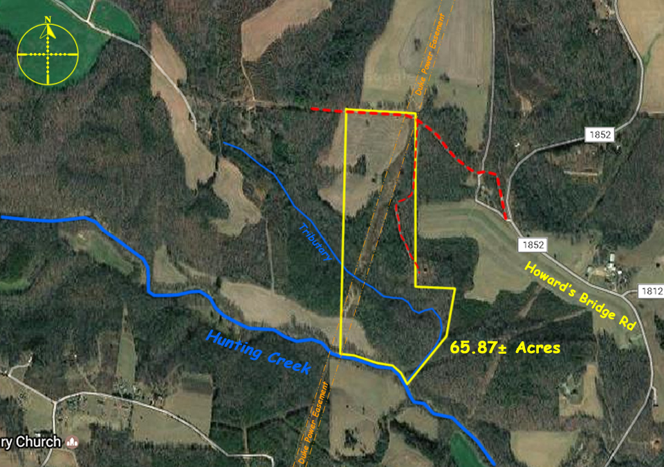 Farm for sale in Iredell County NC 65 acres