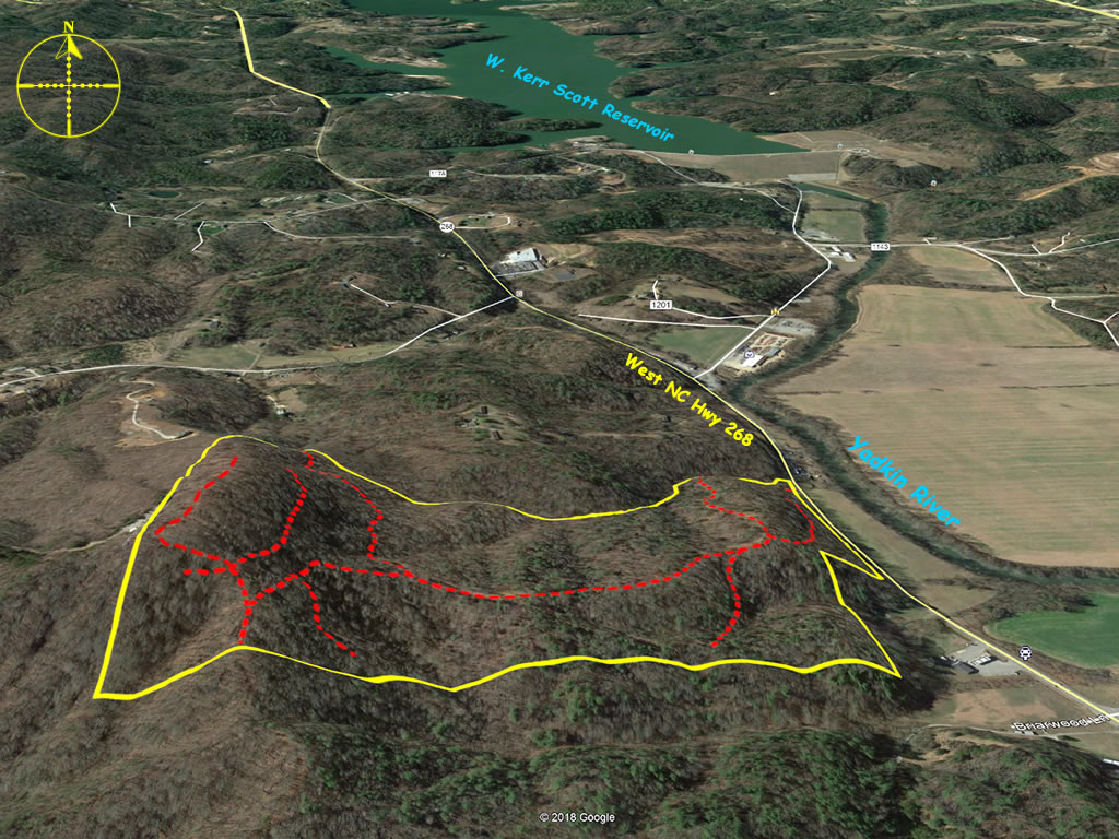 Mountain land for sale in Wilkesboro NC 77 acres