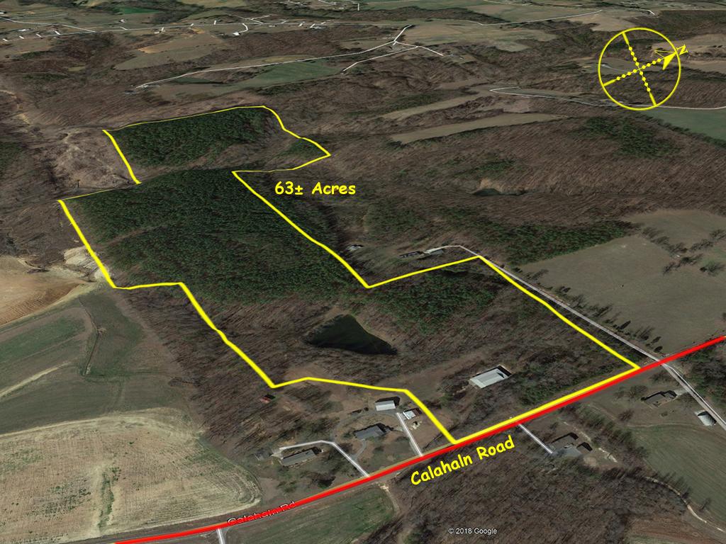 Acreage for sale in Davie County NC 63 acres