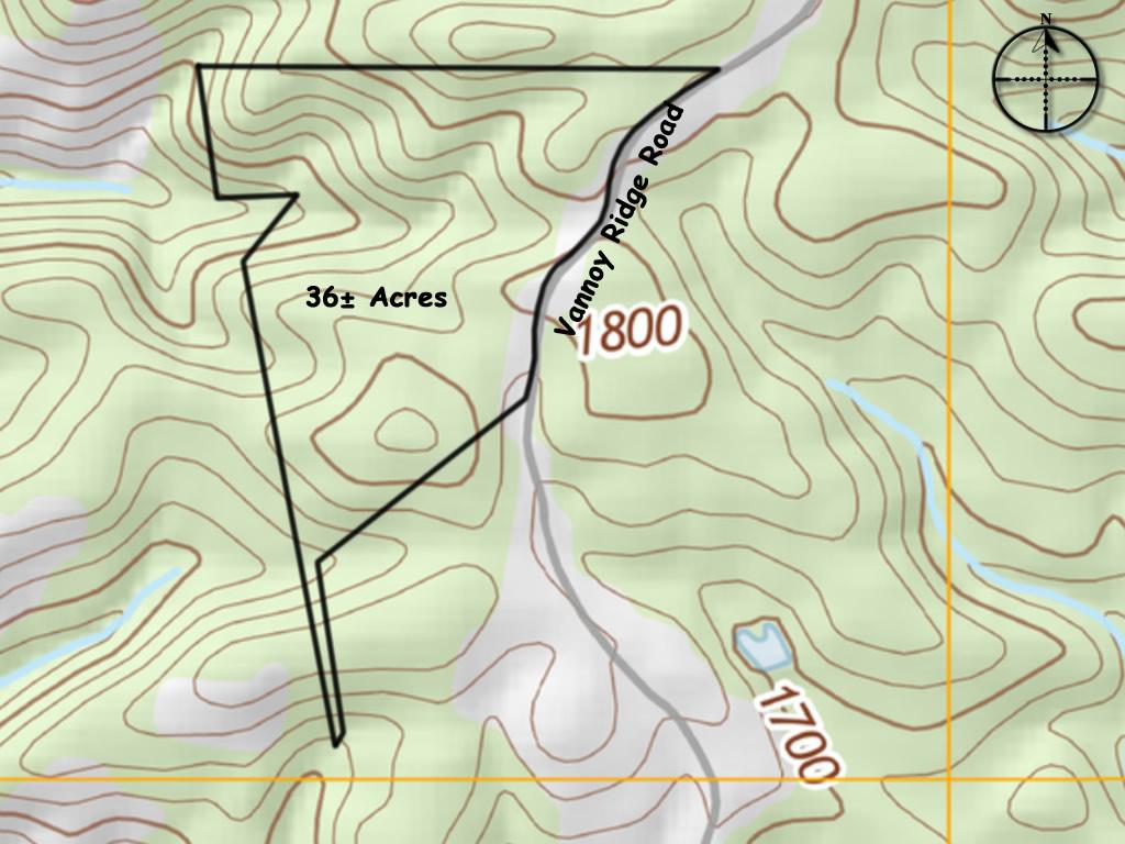 Mountain land sale Brushy Mountains 36 acres