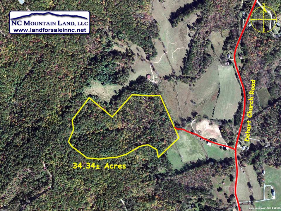 getaway land sale in NC 34 acres