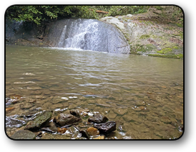 Land for sale with a waterfall in Caldwell County NC