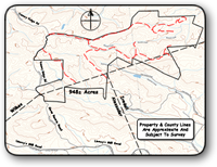 Large tract for sale in the Brushy Mountains in Wilkes County NC.