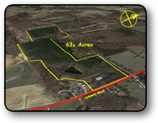 Acreage for sale in Davie County NC 63 acres