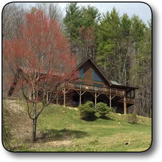 Log Home and 81 Acres in Avery County NC