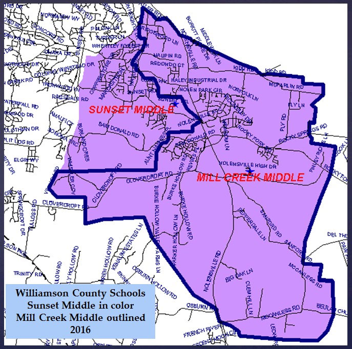 Mill Creek Middle School Zoning Proposal