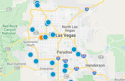Las Vegas Interactive Map Search