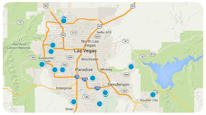 Las Vegas MLS Map Search Results