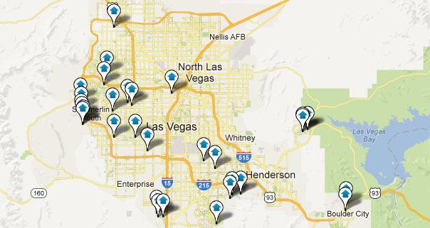 Las Vegas Million Dollar Homes Map Results