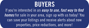 If you're interested in an easy to use, fast way to find homes for sale in your area, sign up with us today! You can save your listings and receive alerts about new properties, price reductions, and more!