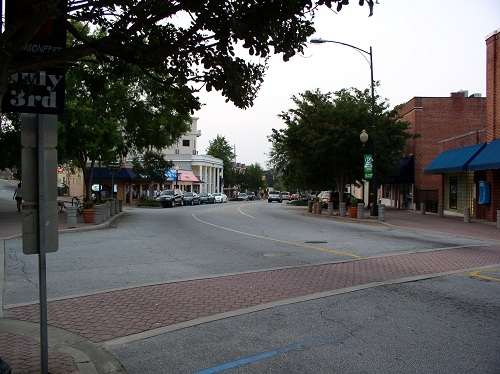 Downtown Clemson, SC near Clemson University