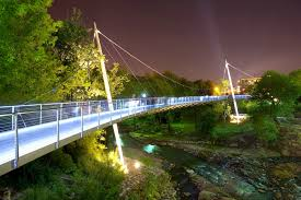 Reedy River Bridge at Night, Downtown Greenville, SC
