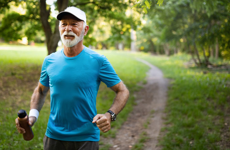 senior retiree jogging in Plantation, FL