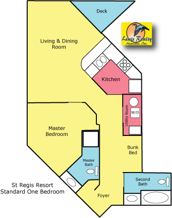 St Regis Resort North Topsail Beach 1 Bedroom Plan