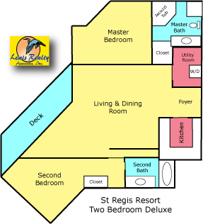 St Regis Resort North Topsail Beach 2 Bedroom Plan