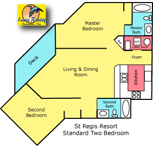 2 Bedroom Standard Floor Plan St Regis Resort