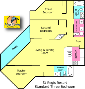 St. Regis Resort 3 Bedroom Standard Plan