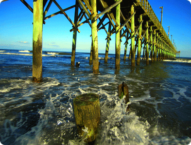 Surf City Pier on Topsail Island