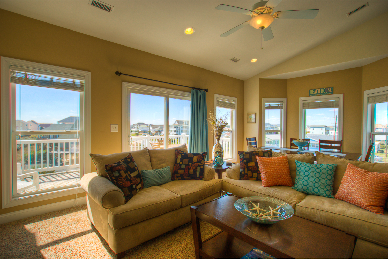 Living Area Sea Star Village Surf City NC