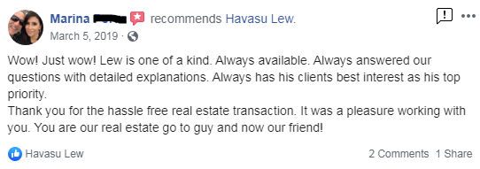 Havasu Lew real estate reviews