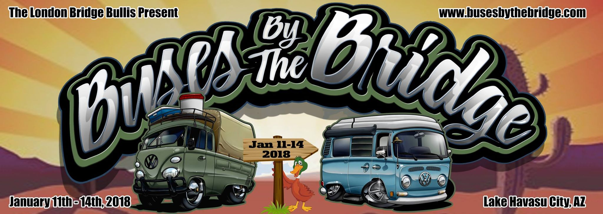 Buses by the Bridge 2018