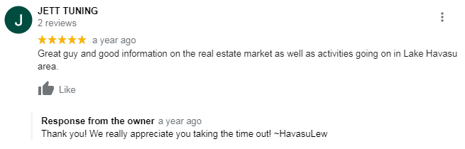 Havasu Lew google reviews lake havasu