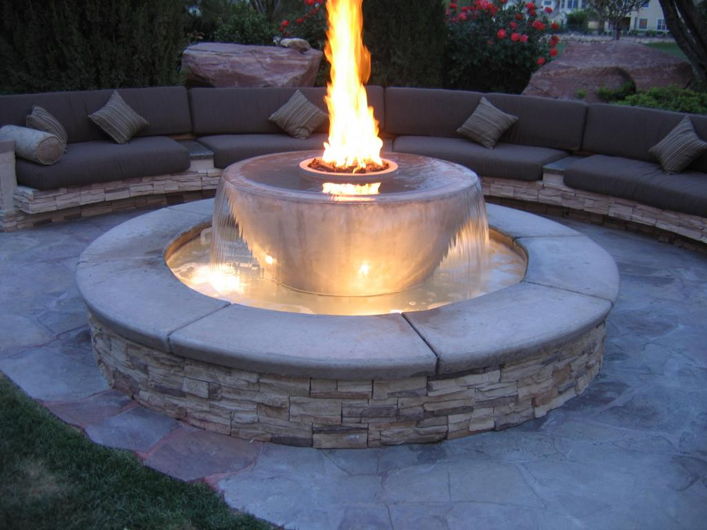 Backyard Fire Pit Or Fountain