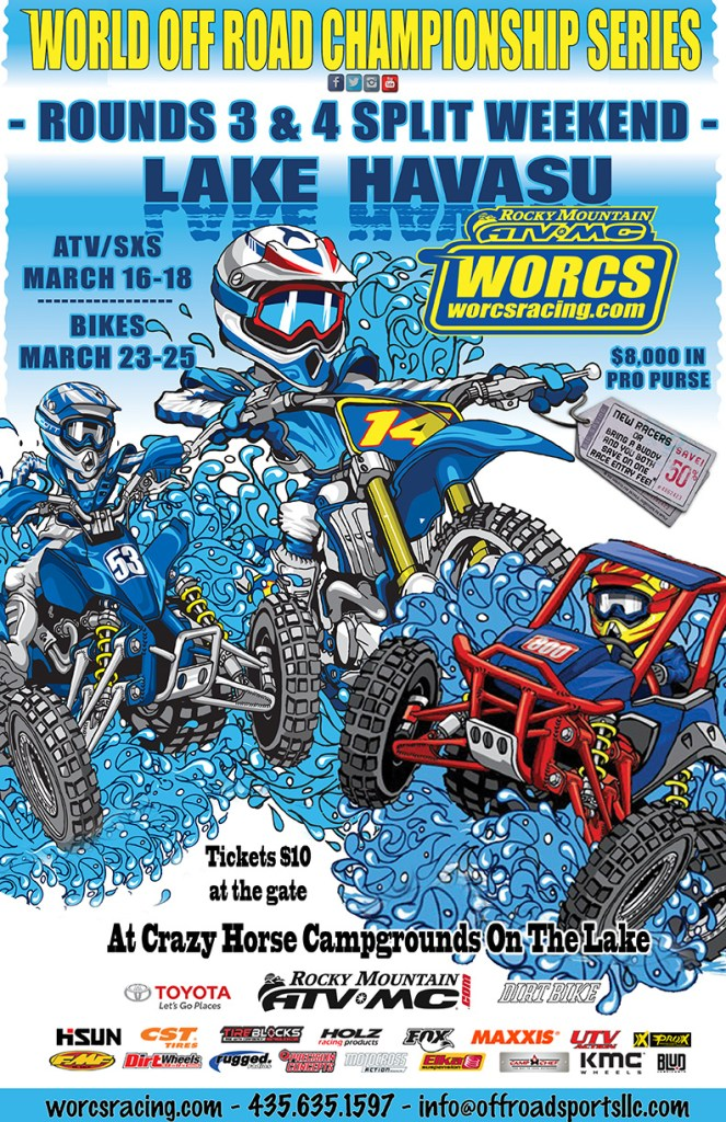 WORCS SXS Dirt Bike races lake havasu