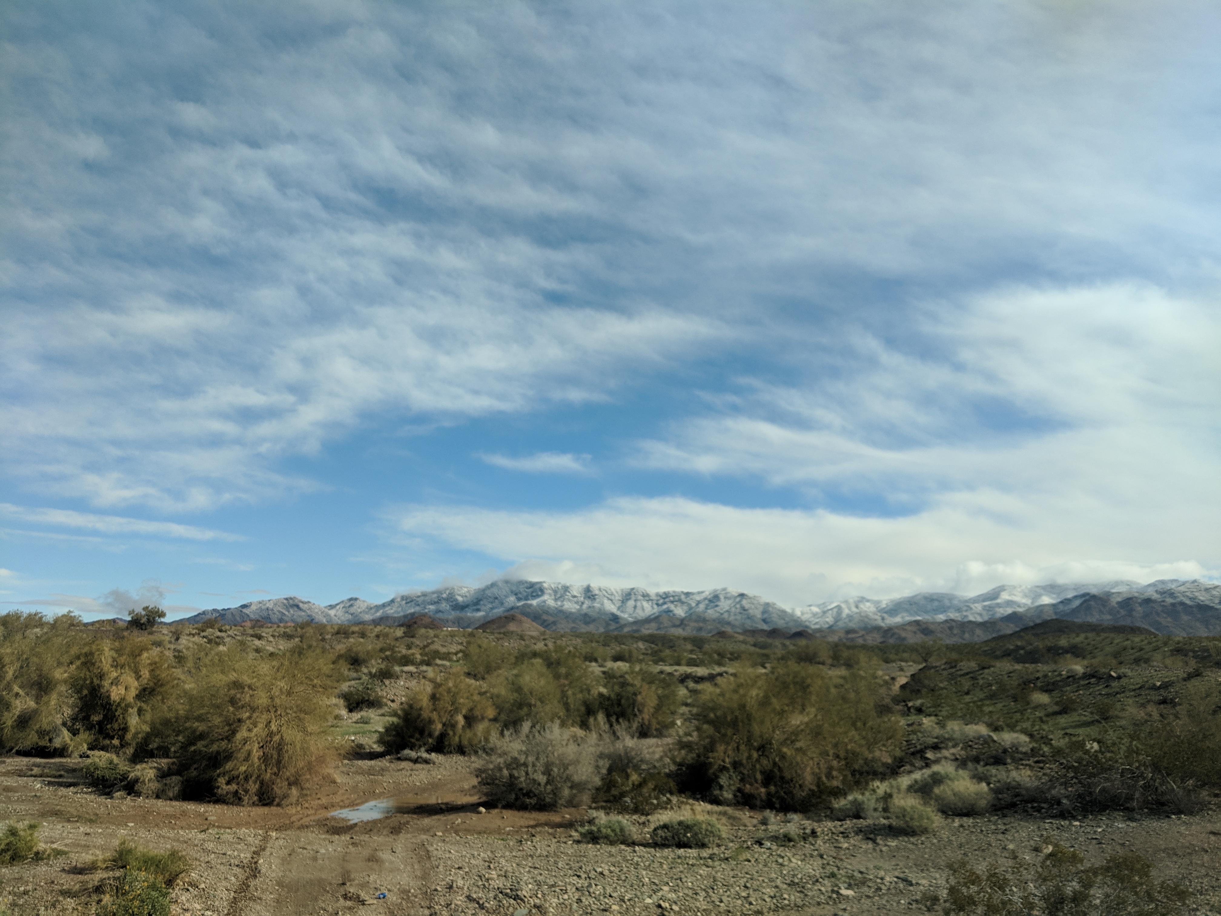 Driving to snow in Lake Havasu City