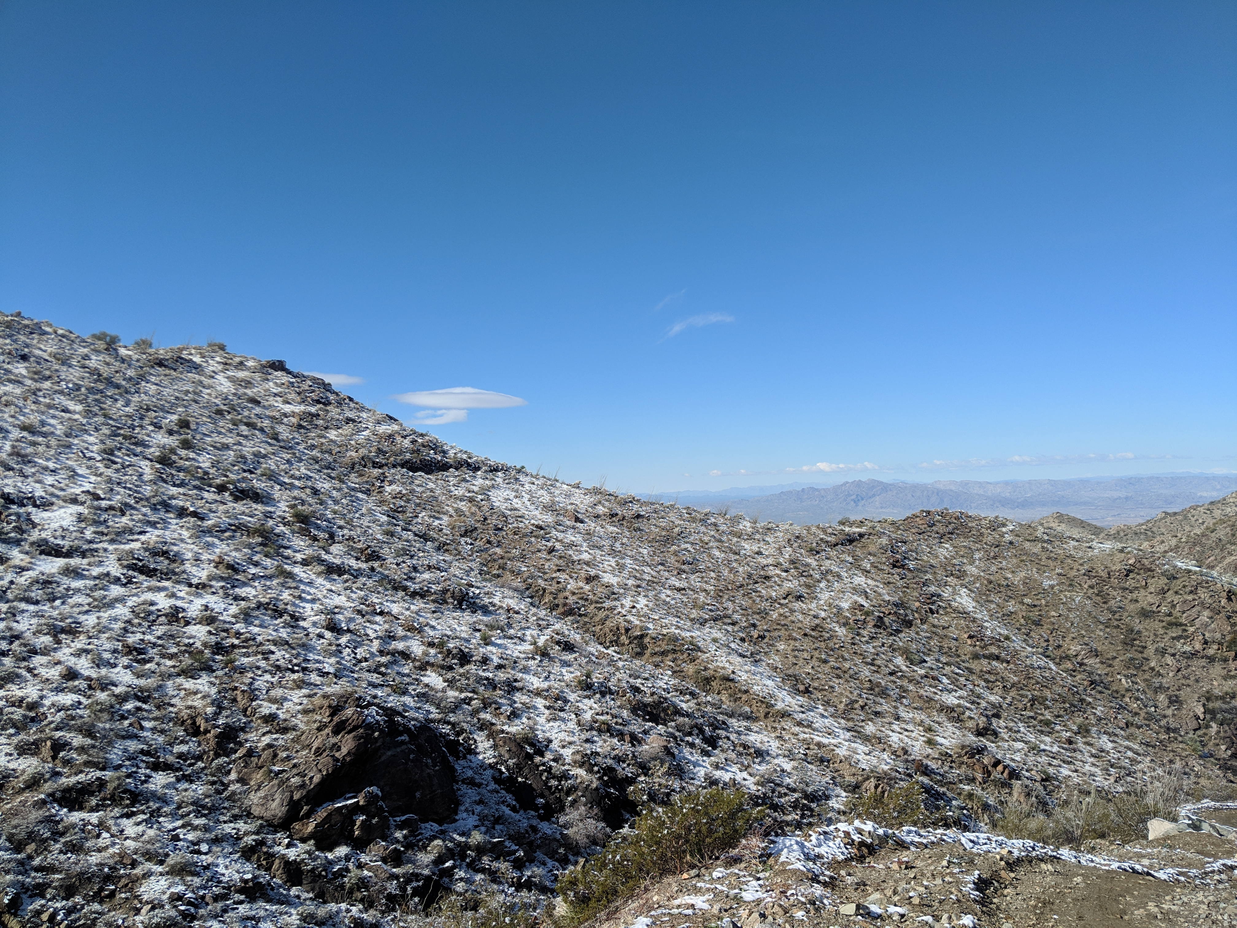 Mohave Mountain Range in snow