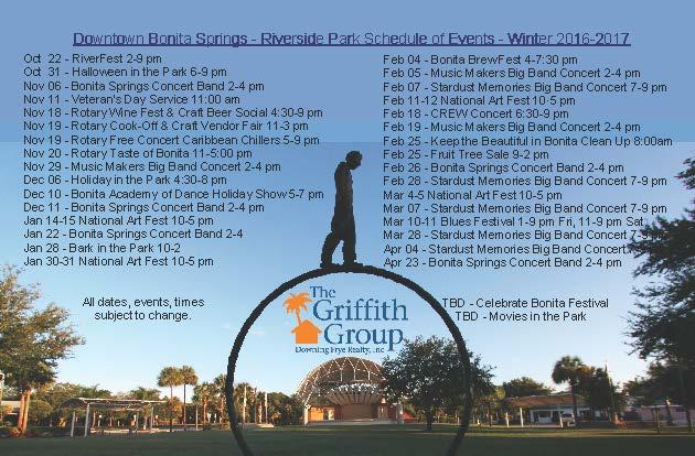 Downtown Riverside Park Events 2016-2017