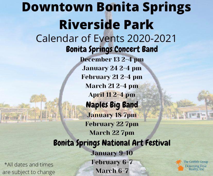 Bonita Springs Riverside Park Calendar 2021