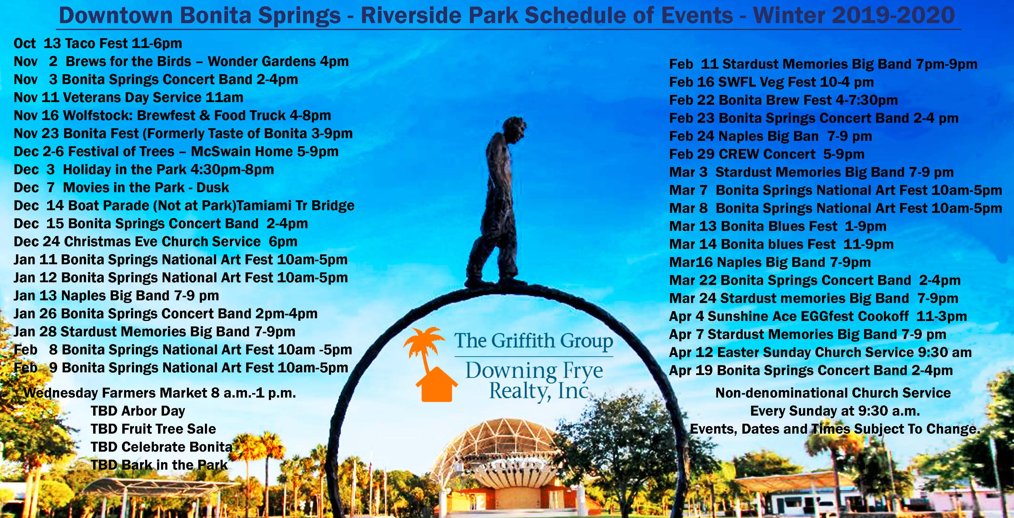 Downtown Bonita Springs Calendar of Events