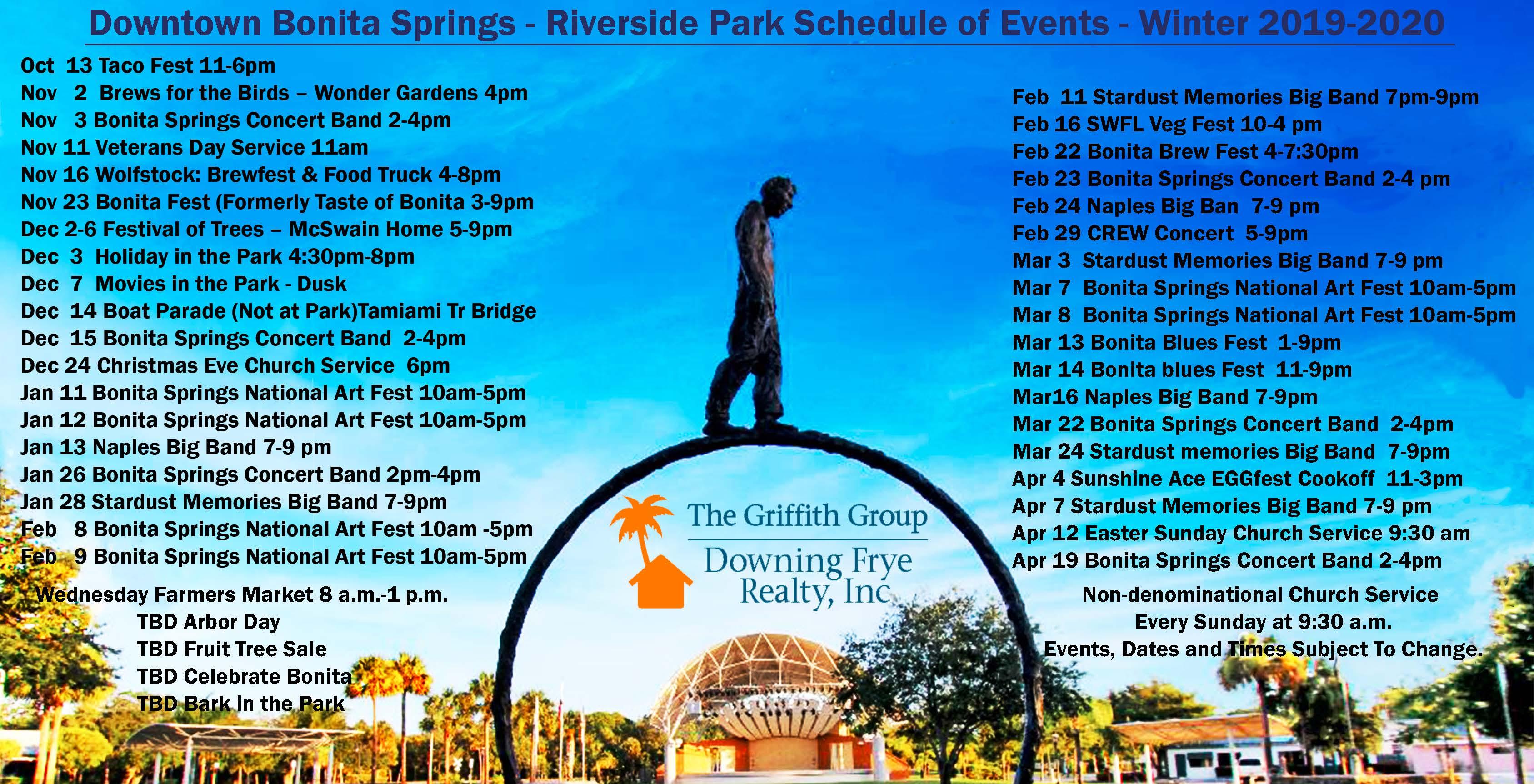 Downtown Bonita Springs Calendar of Events