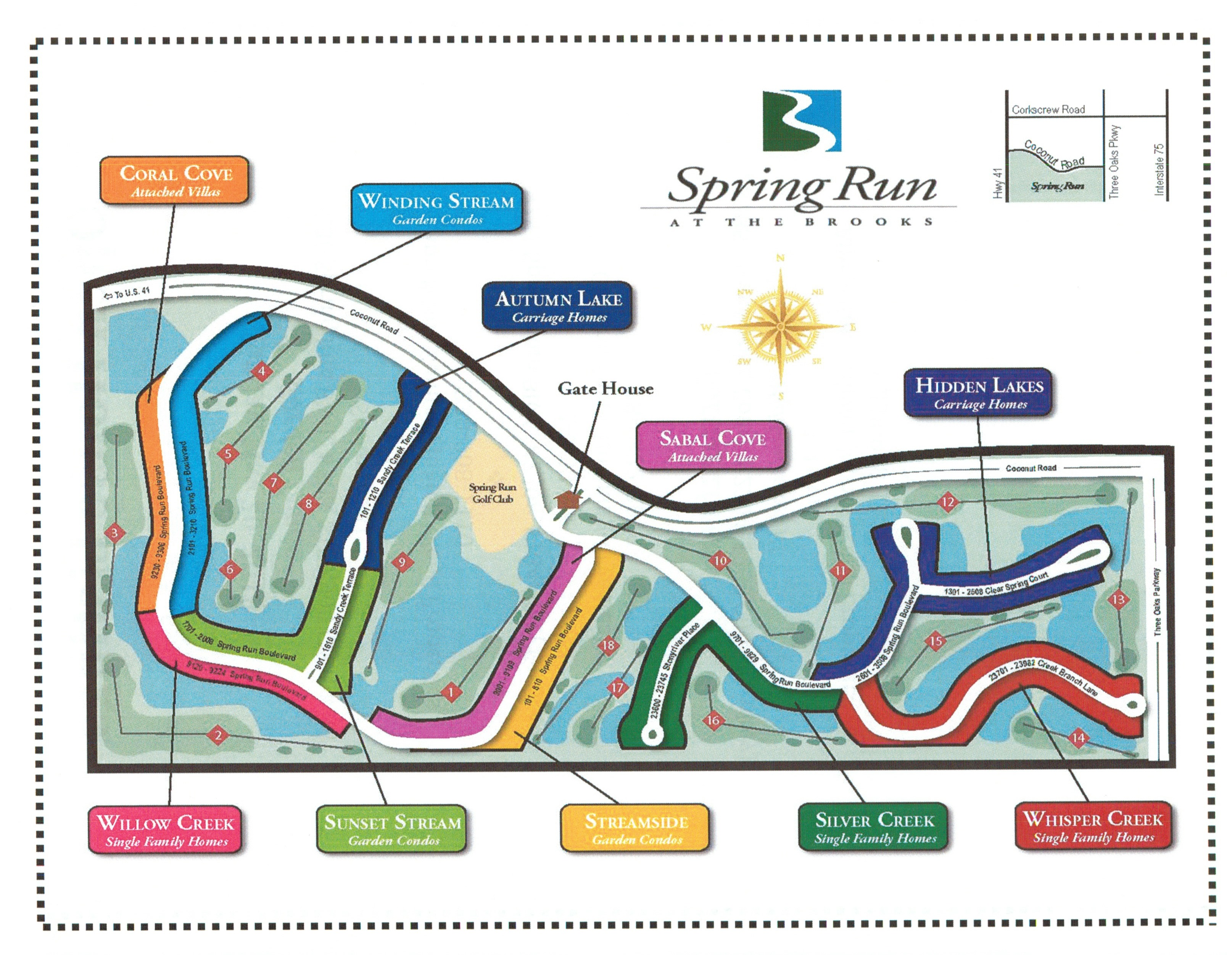 Spring Run Golf Course Map