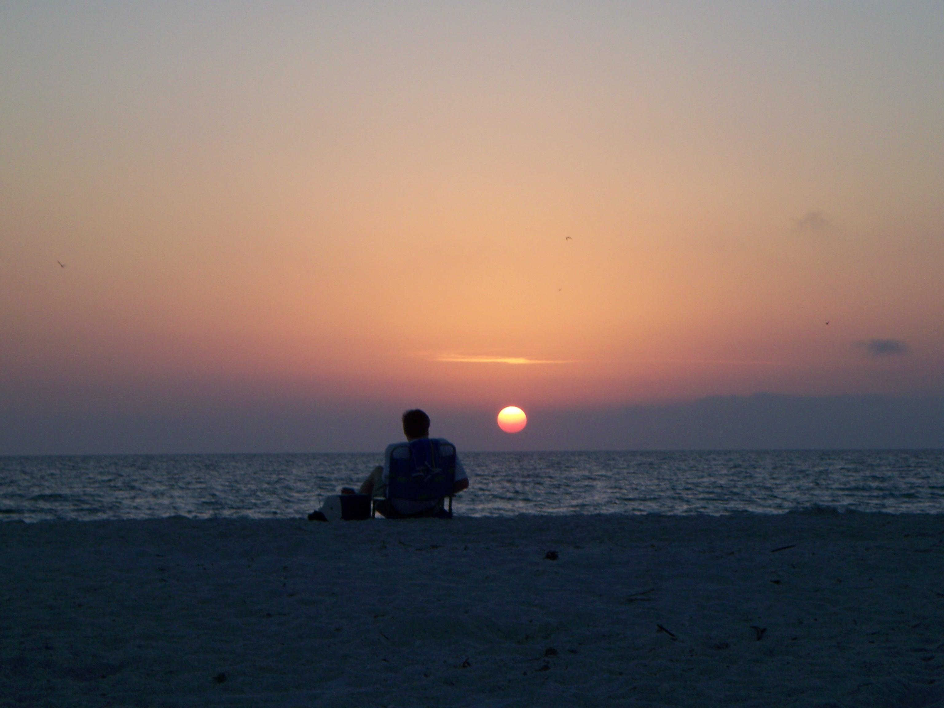 Barefoot Beach Sunset