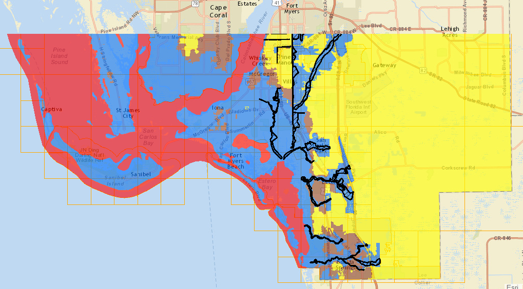 Bonita Springs Flood Zone Map - Florida flood plain map