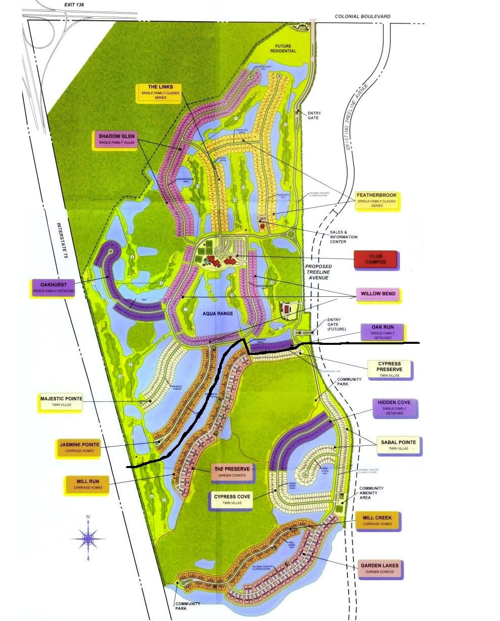 Colonial Country Club Map