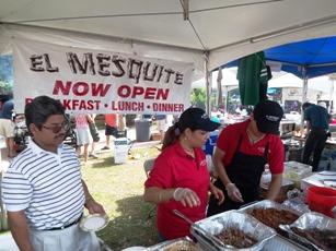 El Mesquite Booth at Taste of Bonita