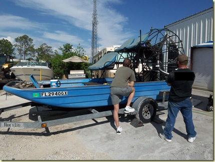 Men with an Air Boat