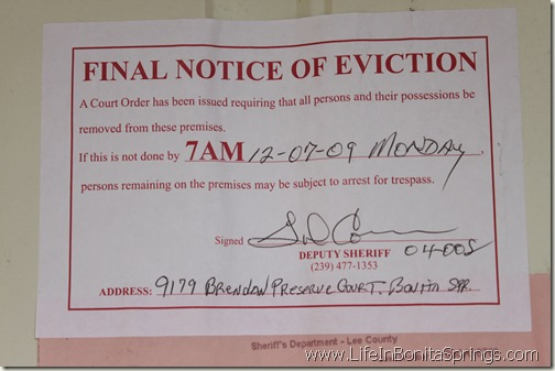 The Foreclosure Eviction Notice