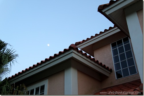 Mediterranean Roof and Moon