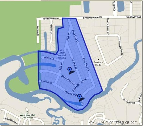 Estero River Heights Map