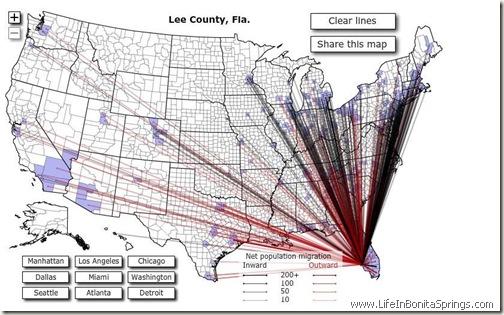 Lee County Snowbird Map