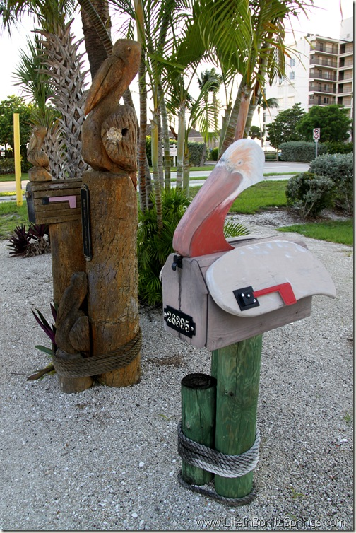 Pelican Mailboxes Bonita beach