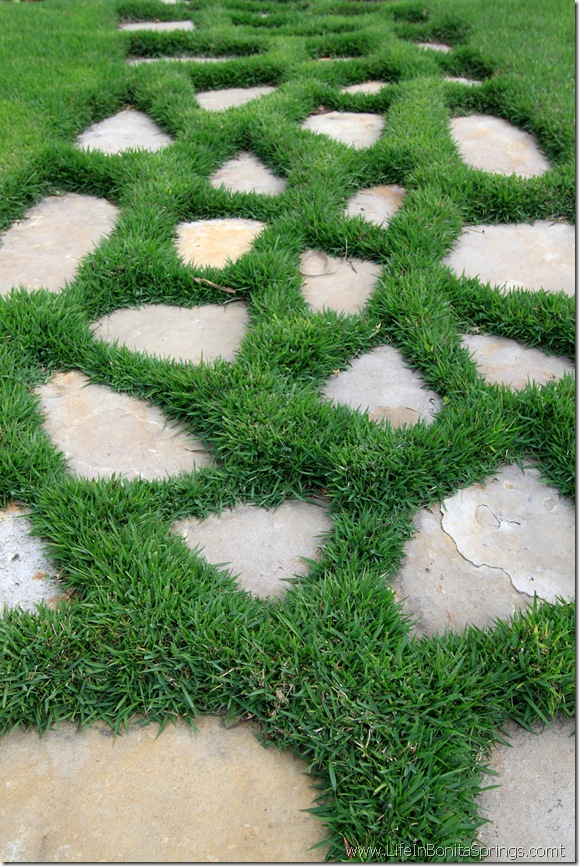 Grassy Paver Walk Way